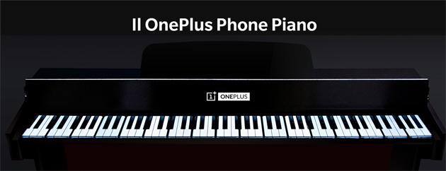 OnePlus Phone Piano, pianoforte fatto di smartphone OnePlus 7T Pro