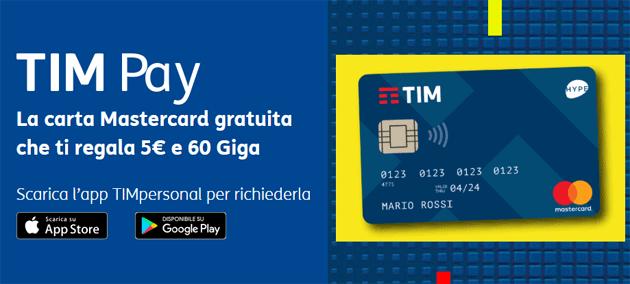 TIM Pay con carta prepagata, pagamenti contactless e supporto in Apple Pay e Google Pay