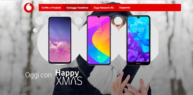 Vodafone Happy Xmas sconta smartphone fino al 45 per cento