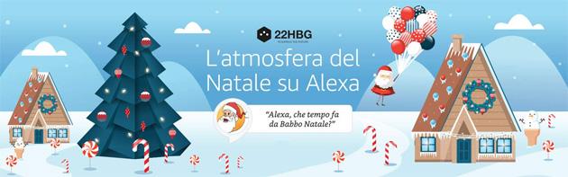 Natale sui dispositivi Alexa, tra giochi e interazioni con Babbo Natale