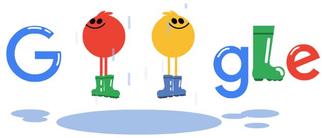 Gli stivali di gomma Wellesley nel doodle di Google