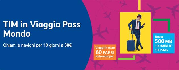 TIM in Viaggio Pass Mondo, promo per parlare e navigare con lo smartphone in oltre 80 Paesi Extra Europei