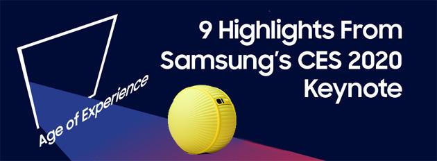 Samsung al CES 2020 con la Age of Experience e nuovi TV