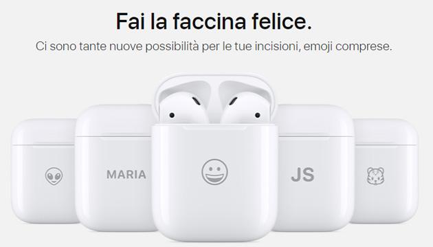 Emoji incisa sulla custodia di Apple AirPods: come personalizzarla