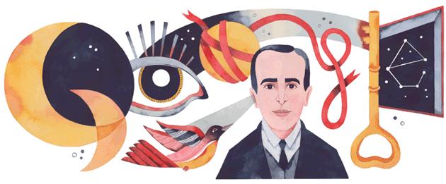 Google Doodle per il 127o anniversario della nascita di Vicente Huidobro