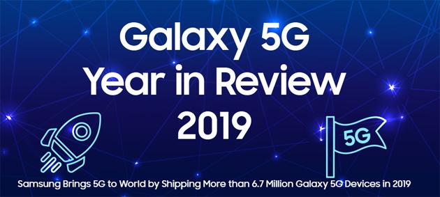 Samsung ha spedito oltre 6 milioni di smartphone 5G nel 2019