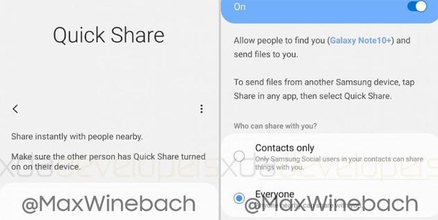 Quick Share, la risposta di Samsung a AirDrop per telefoni Galaxy pronta al debutto