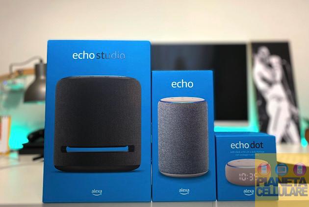 Recensione Amazon Echo Dot Orologio, Echo Terza generazione e Studio