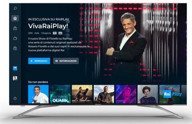 Accesso diretto a RaiPlay con tasto dedicato nei telecomandi dei nuovi tv Hisense