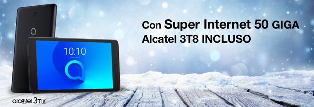 3 Super Internet 50 Giga con tablet Alcatel incluso