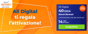 Foto Wind ALL Digital: 40 giga e minuti illimitati a 14,99 euro al mese