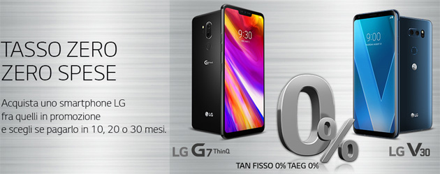 Smartphone LG a rate con Tasso Zero per tutto il 2020: ecco come