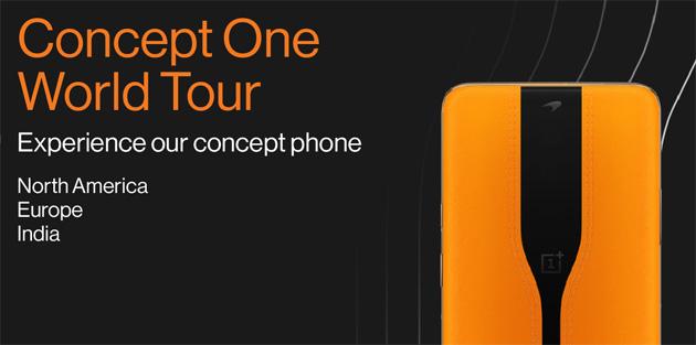 Il telefono con camera nascosta OnePlus Concept One protagonista di un Tour Mondiale