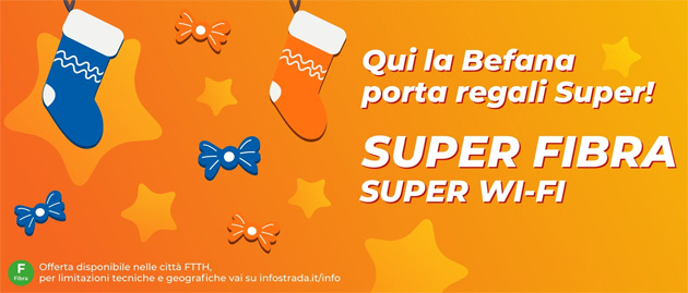Wind per la Befana offre Super Fibra con Amazon Echo Dot con Alexa