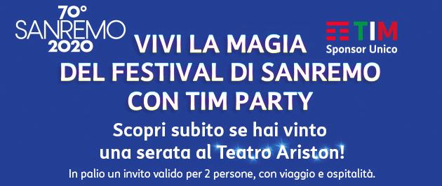 TIM Party regala biglietti per Sanremo: come partecipare al concorso