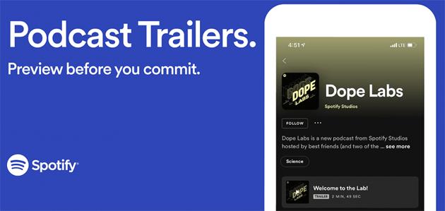 Spotify introduce Trailer e Tag per Podcast