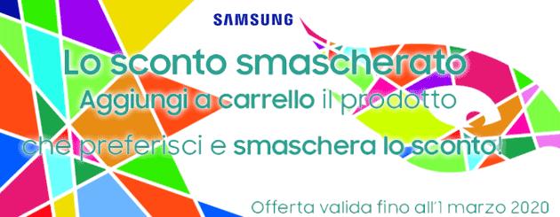 Sconti Mascherati per Carnevale sul Samsung Shop Online