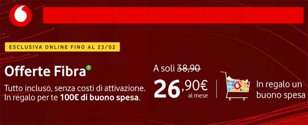 Vodafone Fibra regala buono spesa per il supermercato vicino casa