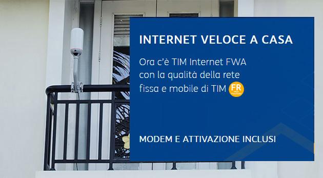 TIM FWA: offerte in tecnologia Fibra mista Radio per abitazioni non raggiunte da Fibra o con scarsa copertura XDSL