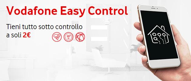 Vodafone Easy Control, offerta per gestire sistemi di antifurto, domotica, localizzazione e monitoraggio remoto