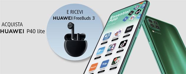 Huawei P40 Lite, esteso il periodo per richiedere FreeBuds 3 gratis