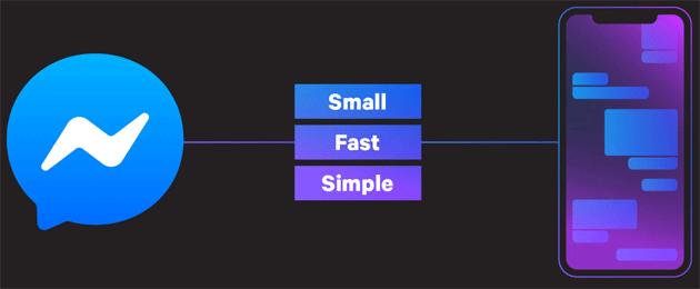Facebook riprogetta Messenger su iOS: piu' veloce, leggera e facile da usare