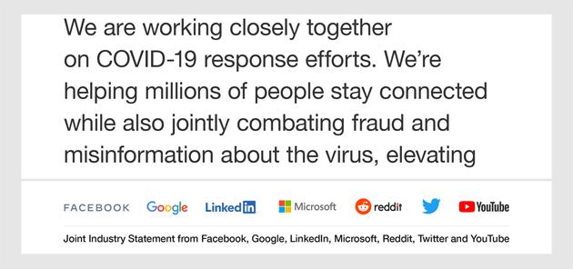Coronavirus - Google, Microsoft, Twitter e altre grandi aziende unite per combattere la disinformazione su COVID-19