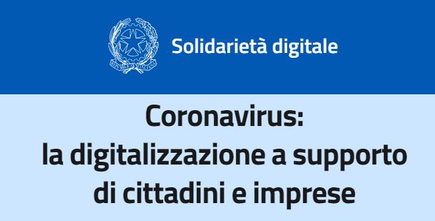 Coronavirus e Solidarieta' Digitale: TIM, Vodafone, Wind Tre e Fastweb a supporto di cittadini e imprese