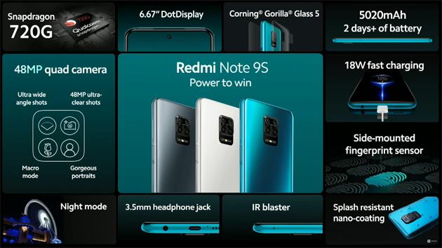 Xiaomi Redmi Note 9S ufficiale: Caratteristiche, Foto, Video e Prezzi