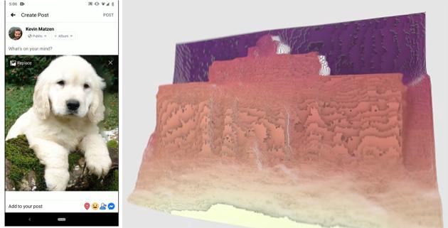Facebook Foto 3D anche sui telefoni con singola fotocamera