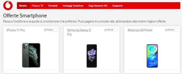 Vodafone: tutti gli smartphone in catalogo acquistabili a Giugno 2020