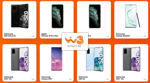 WindTre, gli smartphone in catalogo acquistabili oggi
