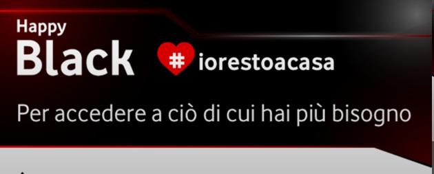 Vodafone Happy Black IoRestoAcasa: primo mese gratuito con queste offerte disponibili