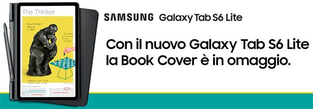 Samsung Galaxy Tab S6 Lite regala Book Cover in preordine: come richiederla
