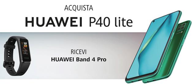 Huawei P40 Lite regala Huawei Band 4 Pro, wearable che calcola il livello di ossigeno nel sangue