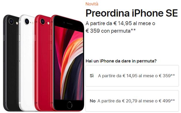 Apple iPhone SE 2020 in Italia: quanto costa e come funziona la permuta dell'usato