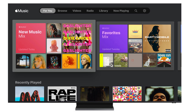 Apple Music su Smart TV Samsung ora con testi sincronizzati con la musica