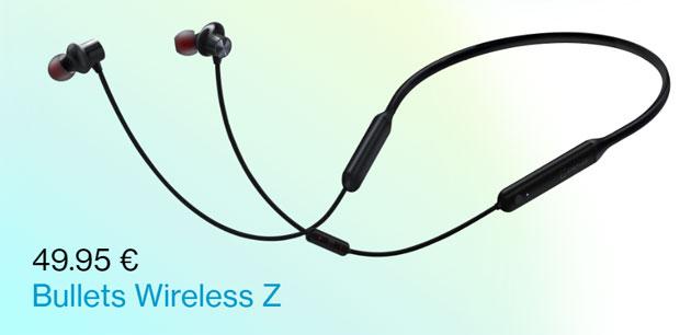 OnePlus Bullets Wireless Z, auricolari bluetooth con autonomia fino a 20 ore e ricarica rapida