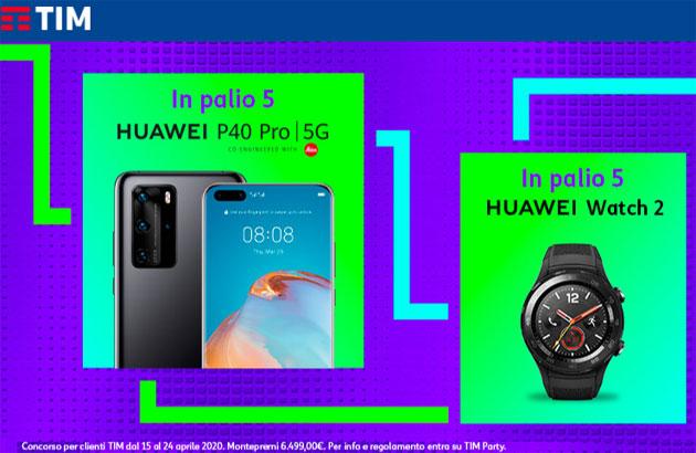 TIM Party regala Huawei P40 Pro 5G e Huawei Watch 2
