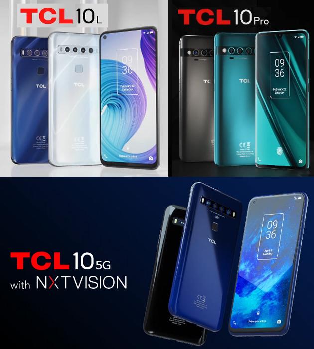 TCL 10L, 10 Pro e 10 5G: Specifiche, Foto, Video e Prezzi in Italia