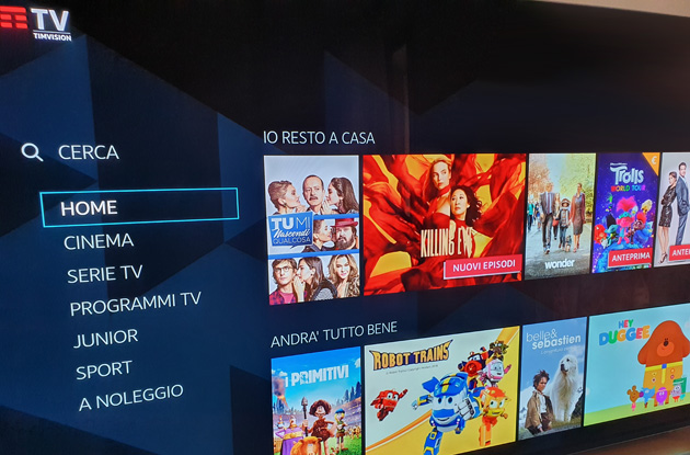 TIMvision su Android TV offre audio Dolby Digital 5.1, anche Plus