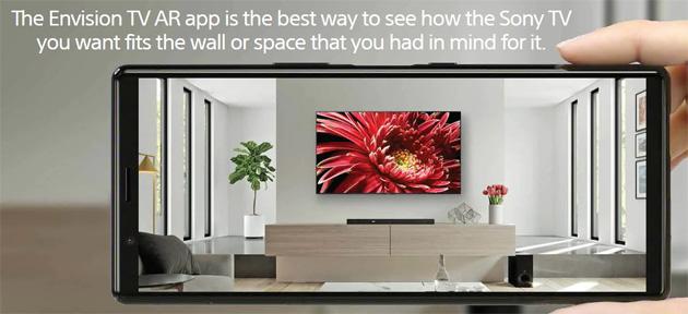 Sony lancia app Envision TV AR per vedere un TV in casa prima di acquistarlo