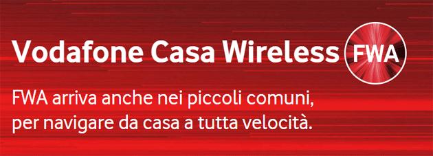 Vodafne Casa Wireless, prima offerta su tecnologia FWA di Vodafone
