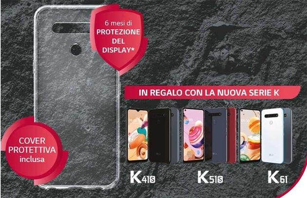 Lg K61, K51S, K41S: sei mesi di copertura da danni accidentali sul display in regalo per chi acquista entro Giugno