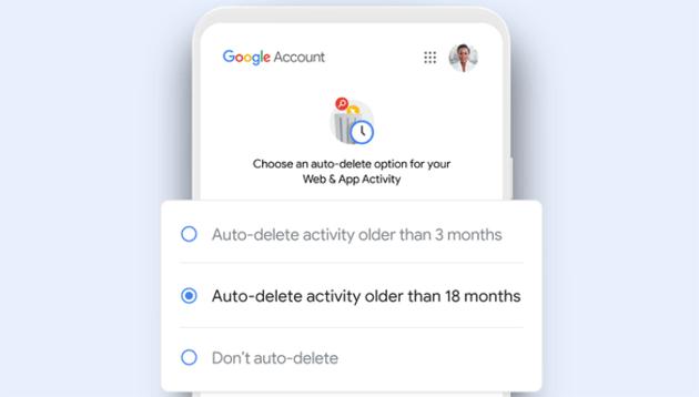 Google elimina automaticamente i dati vecchi di Attivita' Web e App, Cronologia posizioni e YouTube ai nuovi utenti