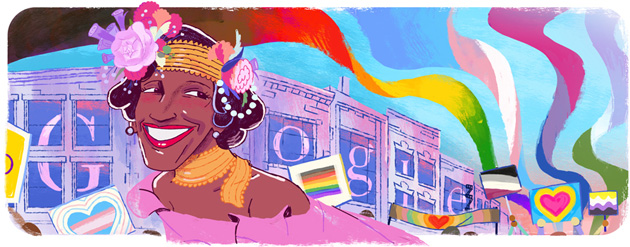 Google doodle in onore di Marsha P. Johnson