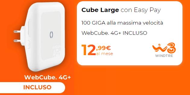 Wind3 Cube Large Smart WiFi con WebCube4 4G Plus incluso ideale per chi vuole solo internet a casa