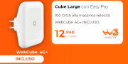 Foto Wind3 Cube Large Smart WiFi con WebCube4 4G Plus incluso ideale per chi vuole solo internet a casa
