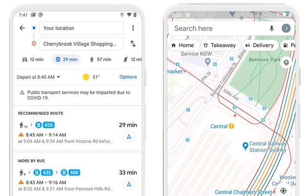 Google Maps offre nuove funzioni per spostarsi in sicurezza