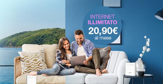 PosteMobile Casa Web: Internet Illimitato su rete radiomobile con Modem WiFi trasportabile